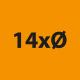 14x Durchmesser