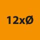 12x Durchmesser